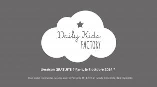 livraison gratuite à paris le 8 oct 2014